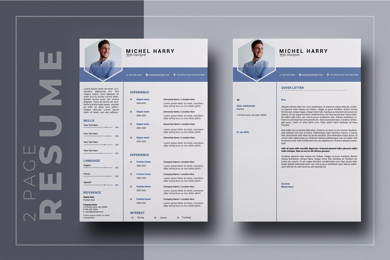 2 Page Resume Template Resume template, Resume, Cover