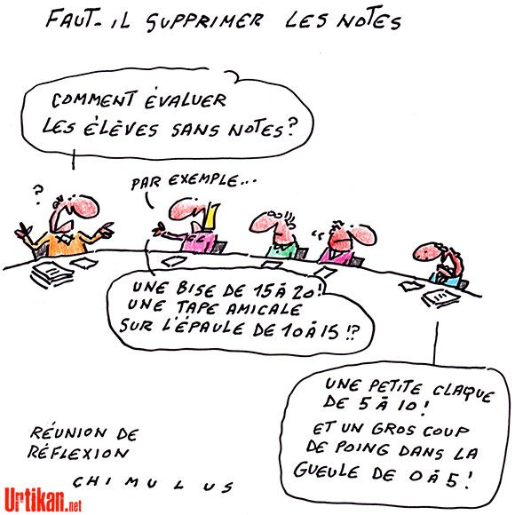 Vers La Fin Des Notes à L école Humour De Prof Humour