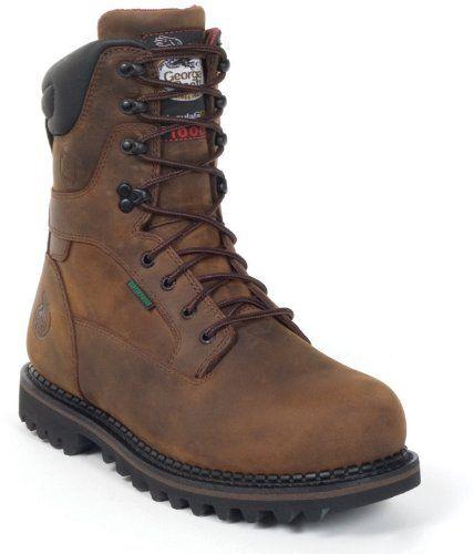 Men s Georgia 1000-grams Thinsulate Ultra Insulation Steel Toe Work Boots  Brown 9ea09a5e3