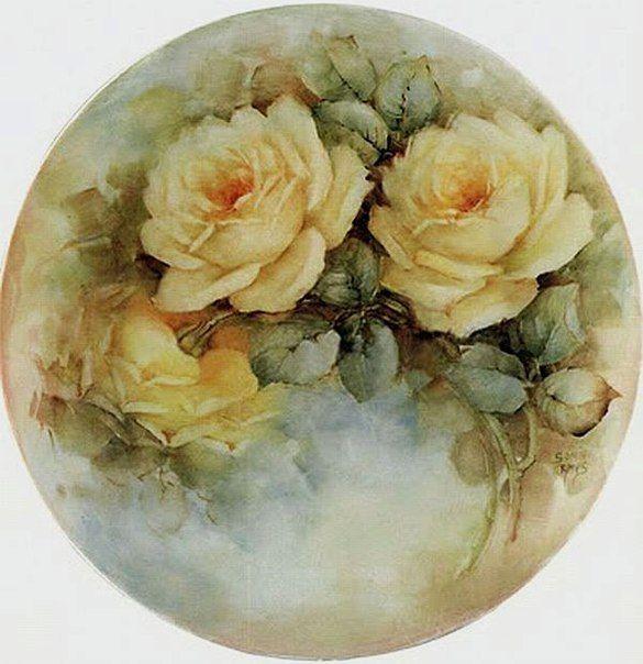 Картинки винтажные розы для декупажа, открытка