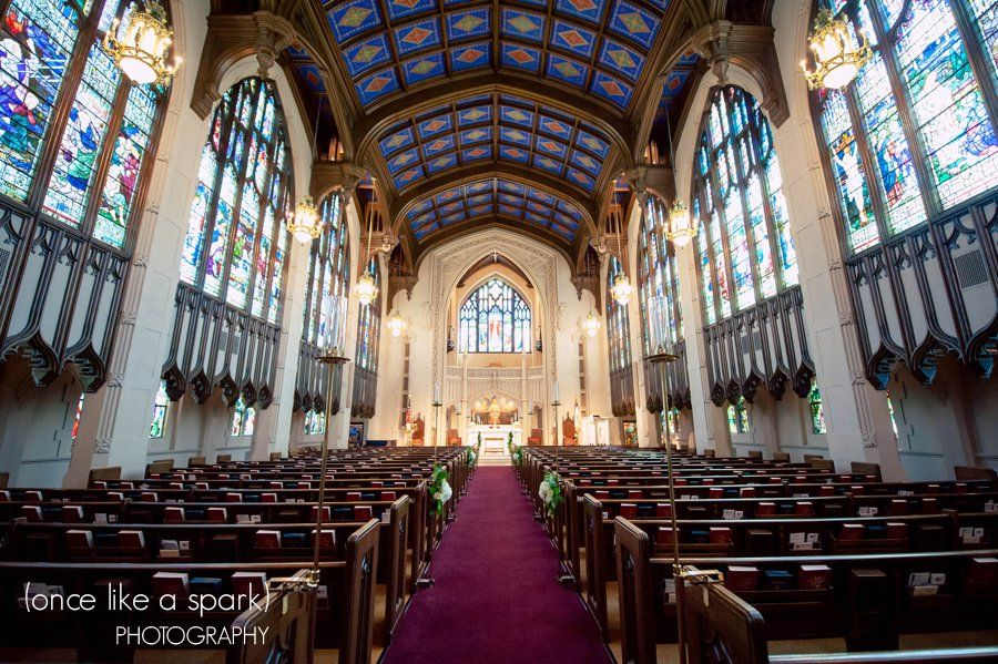 Gorgeous Church Nave Stained Gl Windows Wedding Venue