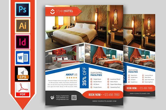 Hotel Flyer Template Vol 07 Pinterest Flyer Template Flyer Size