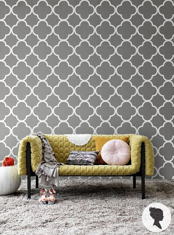 Modern Peel And Stick Wallpaper Orchid Pink Wall Covering Etsy Quatrefoil Pattern Removable Wallpaper Temporary Wallpaper
