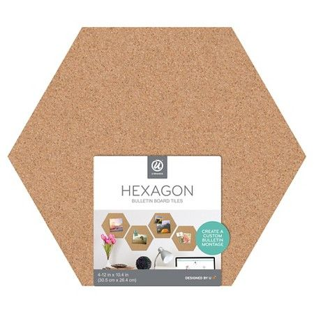 3ct Hexagon Cork Bulletin Board Tiles U Brands Cork Board Tiles Hexagon Cork Board Ideas For Bedroom
