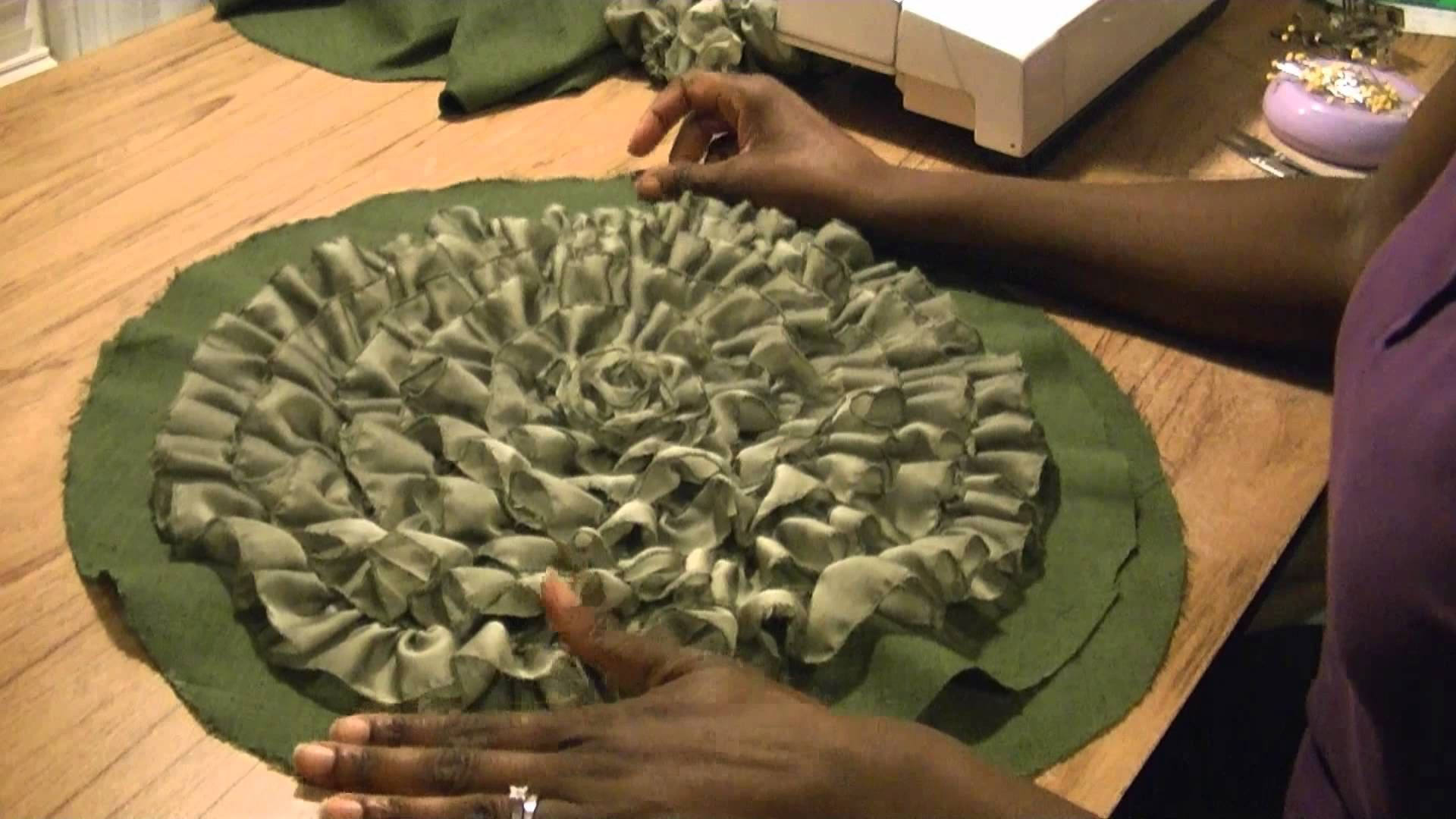 how to make a spiral ruffle