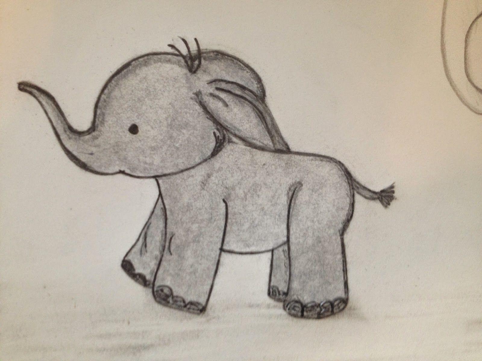 слоники рисунок карандашом уже