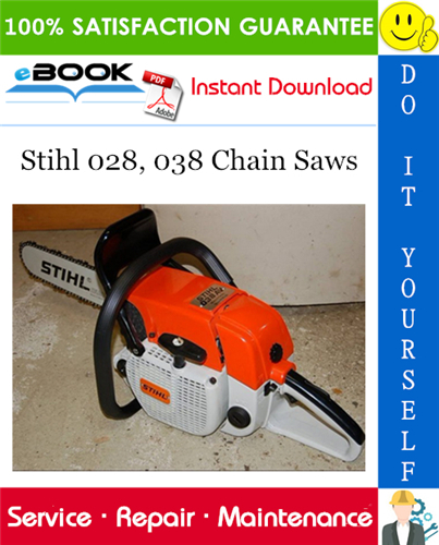 Stihl 028 038 Chain Saws Service Repair Manual Stihl Repair Manuals Repair