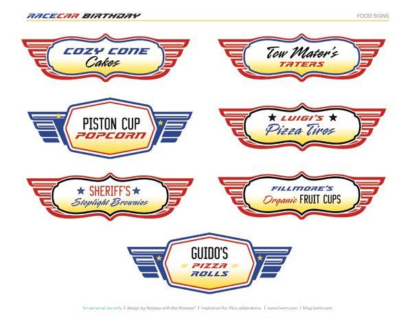 Free Printables Disney Pixar Cars Birthday Party Disney