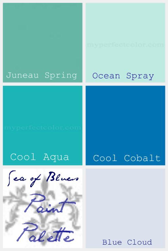 beach color paint palette - Google Search