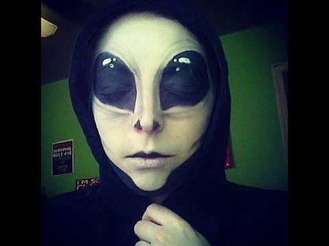 Alien Makeup Tutorial - YouTube