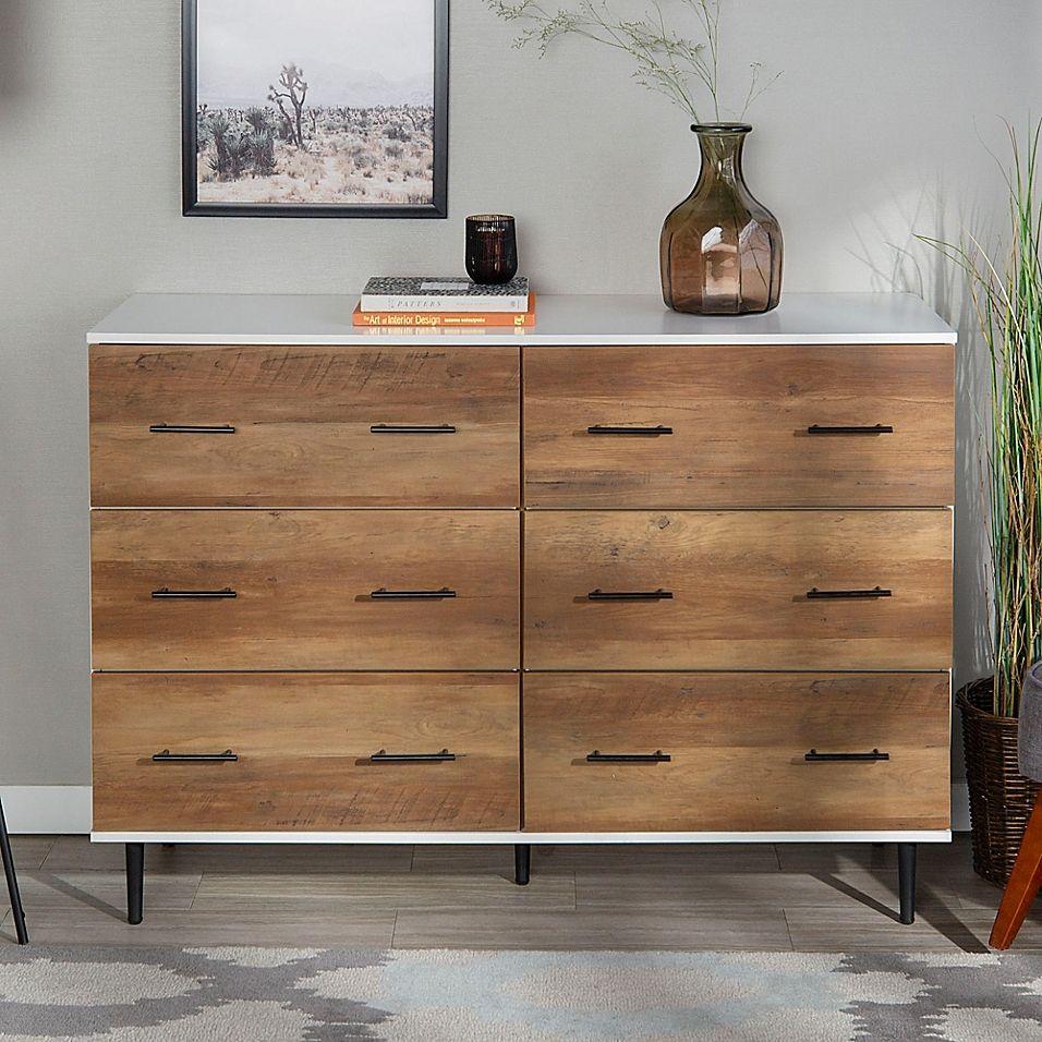 Forest Gate 6 Drawer Farmhouse Wood Storage Cabinet Bed Bath Beyond In 2021 Wood Storage Cabinets Wood Storage White Storage