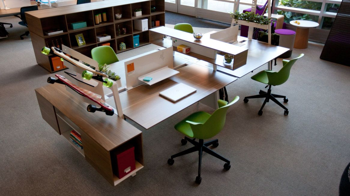 Captivating Turnstone Bivi Modern Office Desk System Pictures Gallery