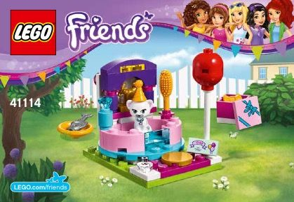 Lego Party Styling Instructions 41114 Friends Lego Ideas