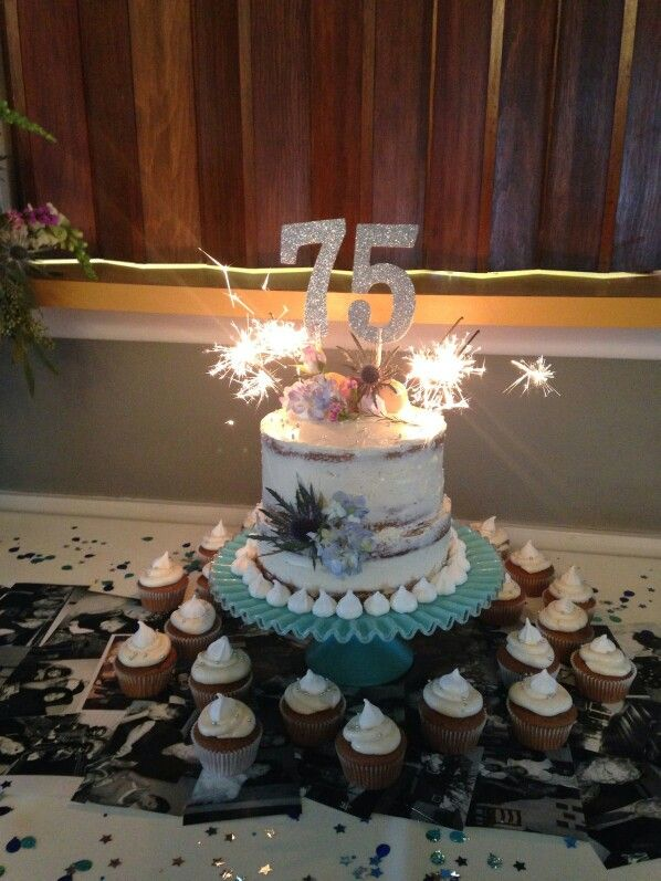 75th Birthday Cake For My Momma Almost Naked Spice Cake Generation