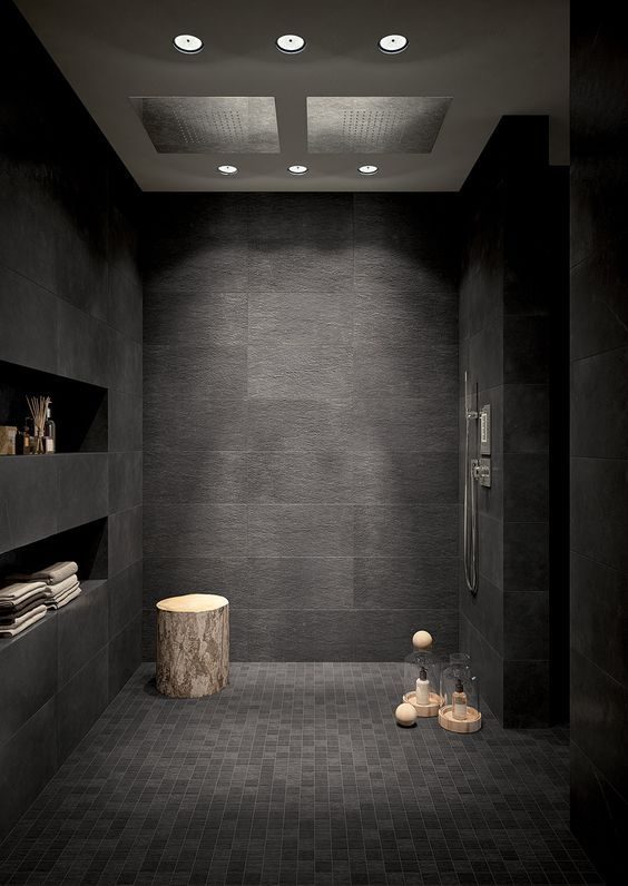 Black bathroom room designs in 48 Pinterest Bathroom Bath Inspiration Black Bathroom