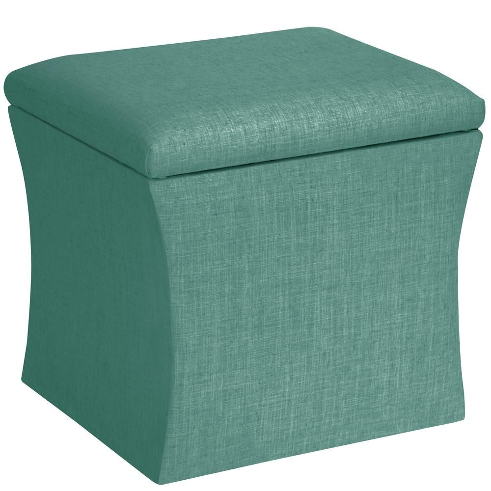 Square Storage Ottoman Sunbleached Turquoise 17 At Target To Go