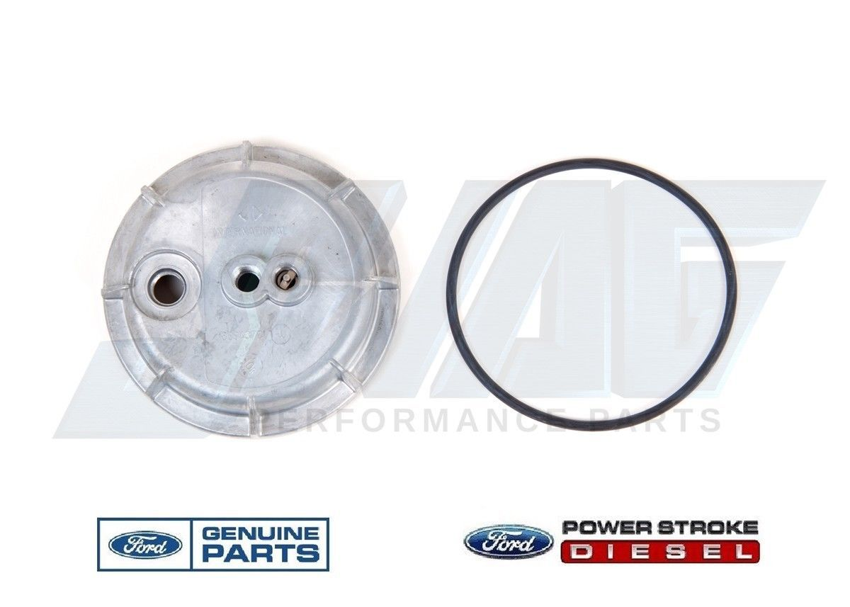 hight resolution of genuine ford 7 3l idi diesel fuel filter housing bottom lower cap f250 f350 ebay
