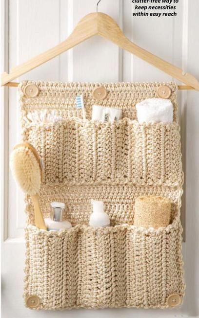 Handy Designs and Craft Ideas to Keep Homes Organized and Neat Nice and easy to crochet, craft idea for home organization and storage in the bathroom. Gives your bathroom natural look)Nice and easy to crochet, craft idea for home organization and storage in the bathroom. Gives your bathroom natural look)