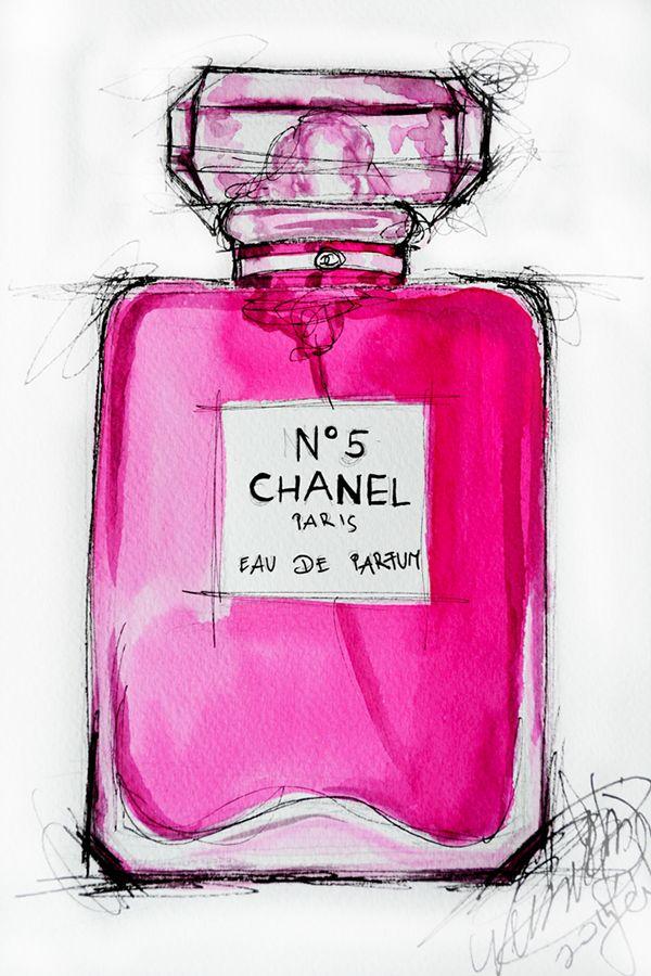 Chanel perfume illustrations on Behance