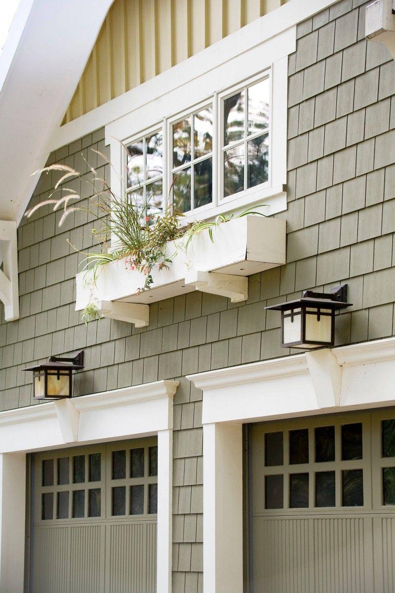 glass garage window wooden garage door shingle siding ... on Garage Door Color Ideas  id=16545