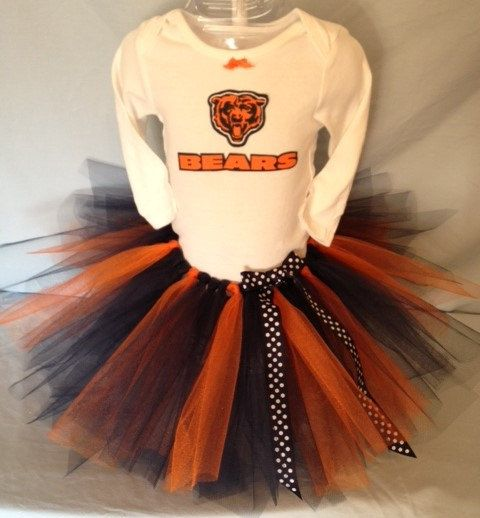 a92cef954 FREE SHIPPING NFL Chicago Bears Tutu Cheer Dress Outfit for Baby ...