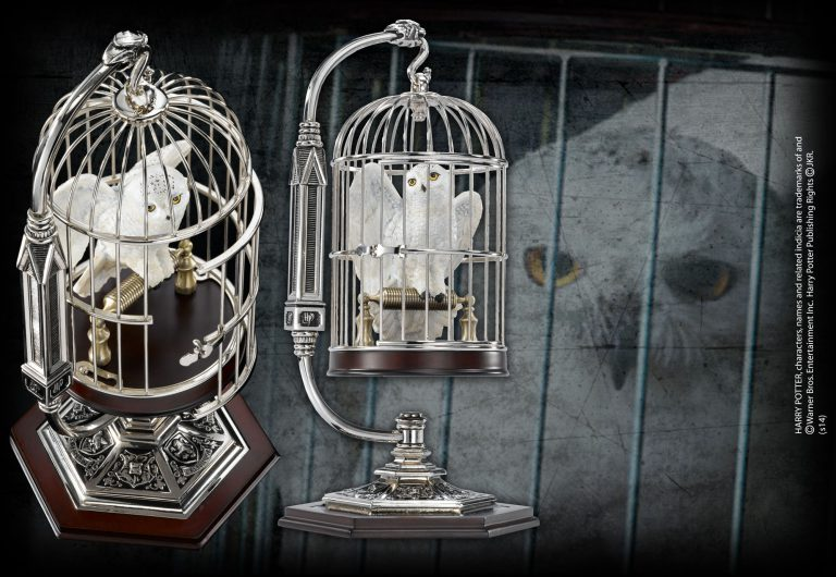 Miniature Hedwig and Cage — The Noble Collection UK in