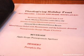 Vegan Thanksgiving meal at Cafe Gratitude - Larchmont L.A. ~ Vegas and Food