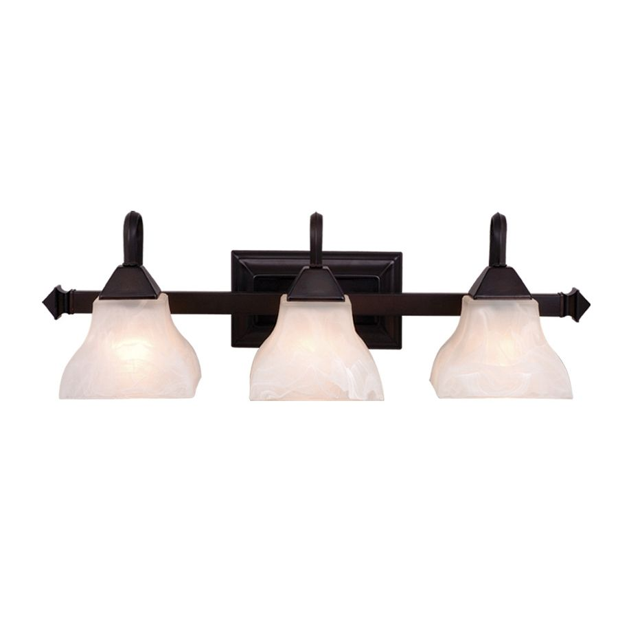 Cascadia Lighting Cardiff 3 Light 8 In Oiled Burnished Bronze Bell Vanity