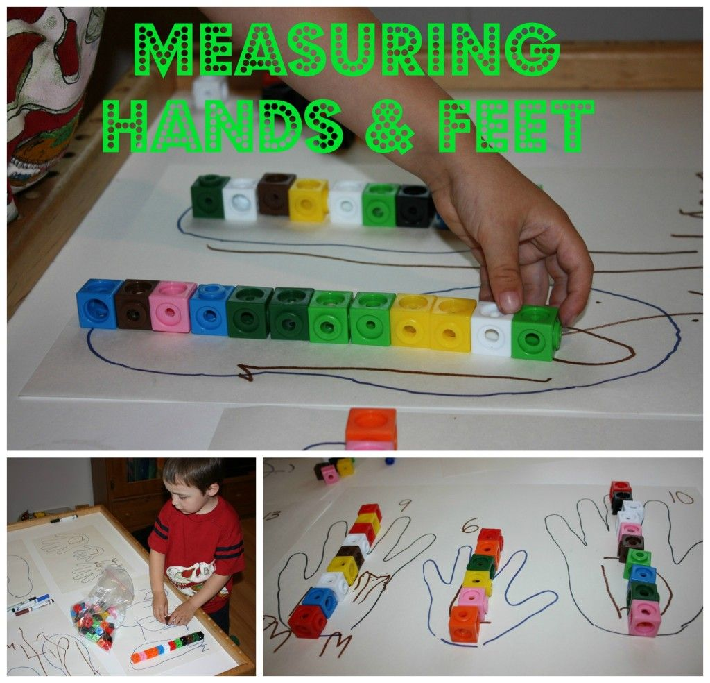 Preschool Math Measuring Your Hands And Feet