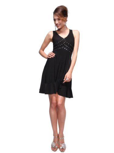 f36cbc1b766 Ever Pretty Women s Rock Sequined Short Dress Size L Black 02018BK12 ...