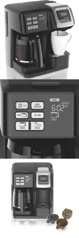 Filter Coffee Machines 184665 Hamilton Beach Flexbrew 2 Way Coffee