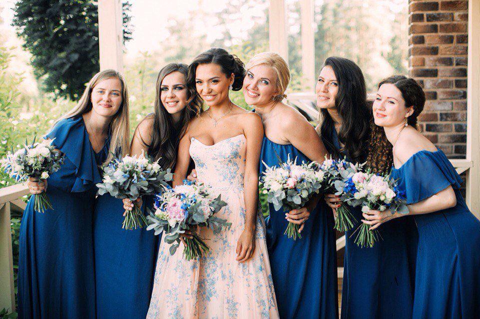 Тольятти, букет невесты и подружками 2017