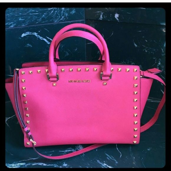 e787a081b537 ... where can i buy michael kors studded selma hot pink studded selma used  twice its just