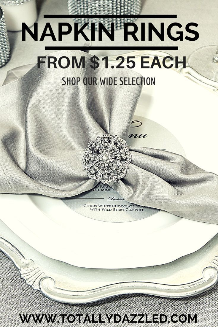 Wedding Napkin Rings at great prices weddingbling napkinrings