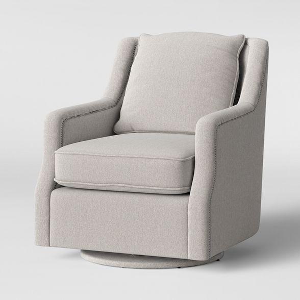 Candlewood Pillow Back Swivel Glider Chair Light Tan ...