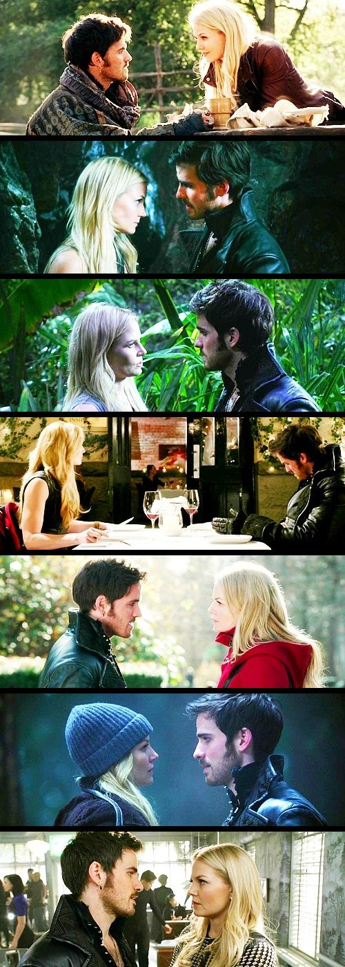 Captain Hook and Emma Swan - Always looking at each other in the eyes! And look at the sequence! From lies, to the most open and truthful heart!