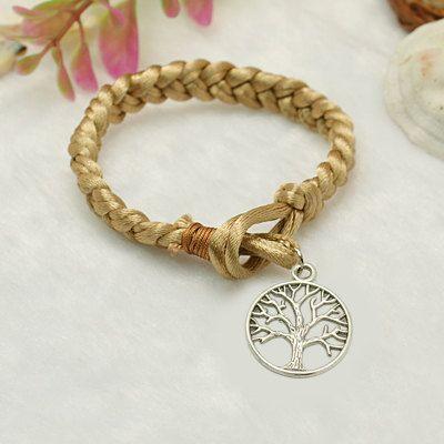 plaited tree of life karma bracelet
