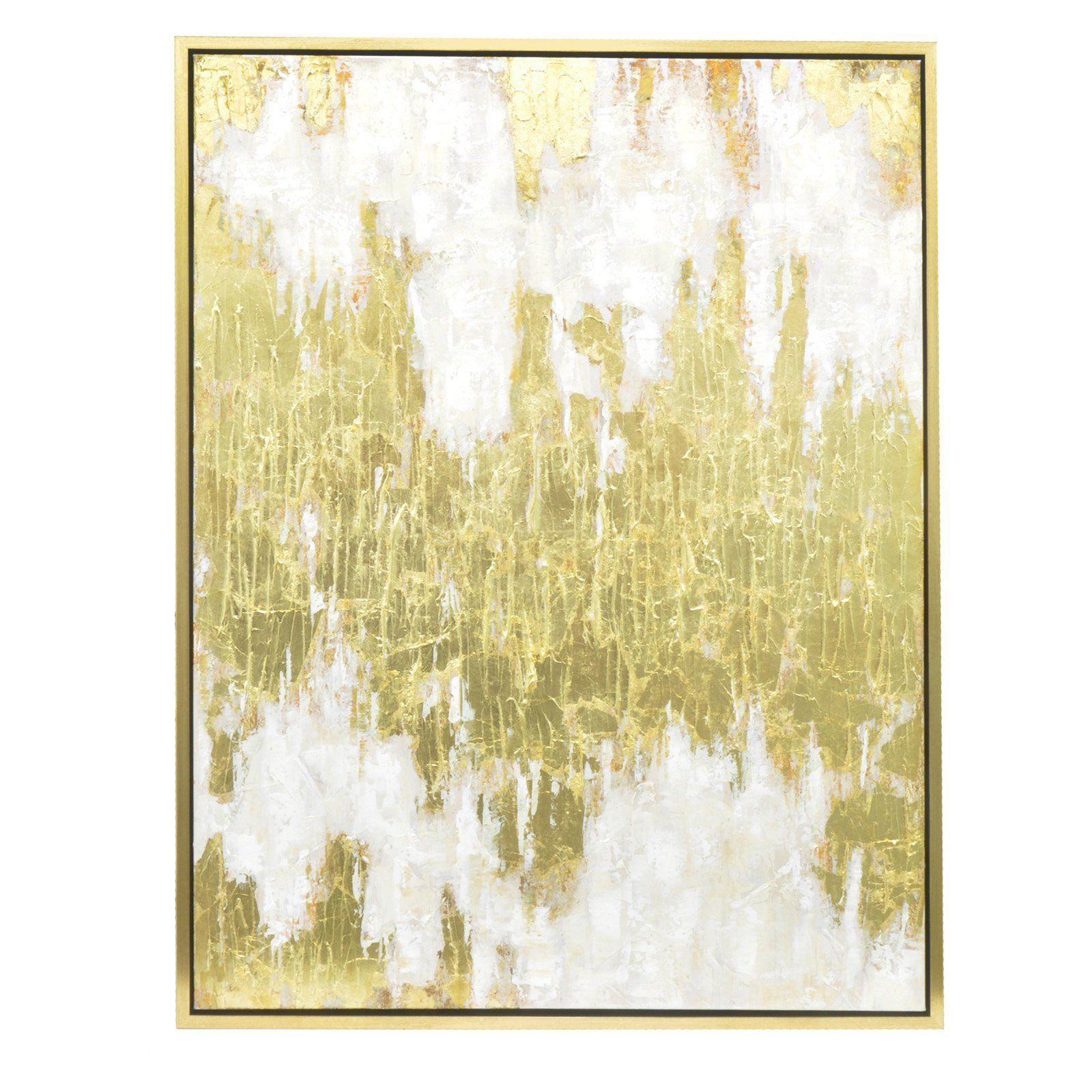 Three Hands Contemporary Gold Embellished Oil Painting Wall Art ...