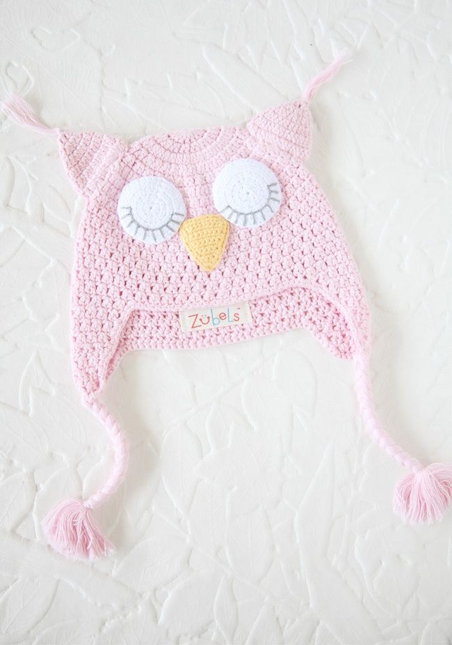 Crochet Owl Hat In Pink. | Musten | Pinterest | Ganchillo y Cosas