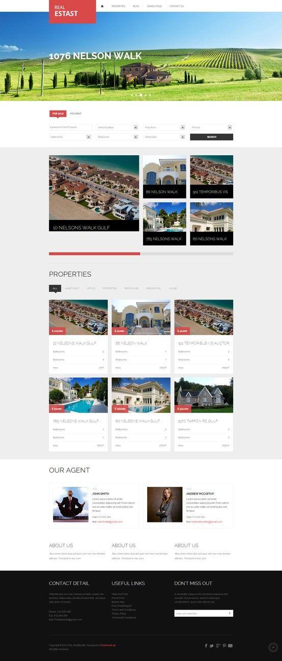 RealEstast Responsive Real Estate Wordpress Theme - #wordpress ...