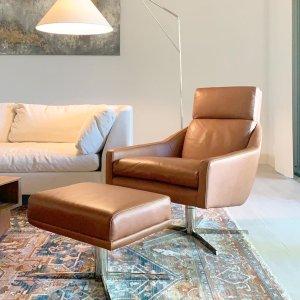 Austin Leather Swivel Armchair In 2020 Swivel Armchair Armchair