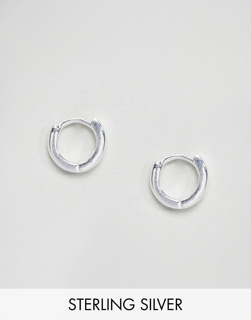 Get This Asos S Earring Now Click For More Details Worldwide Shipping Sterling Silver Hinged Hoop Earrings By Collection