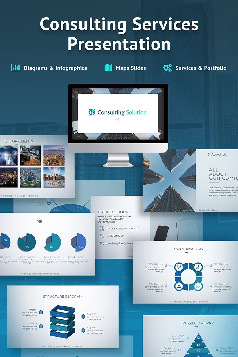 business slides consulting services powerpoint template designs