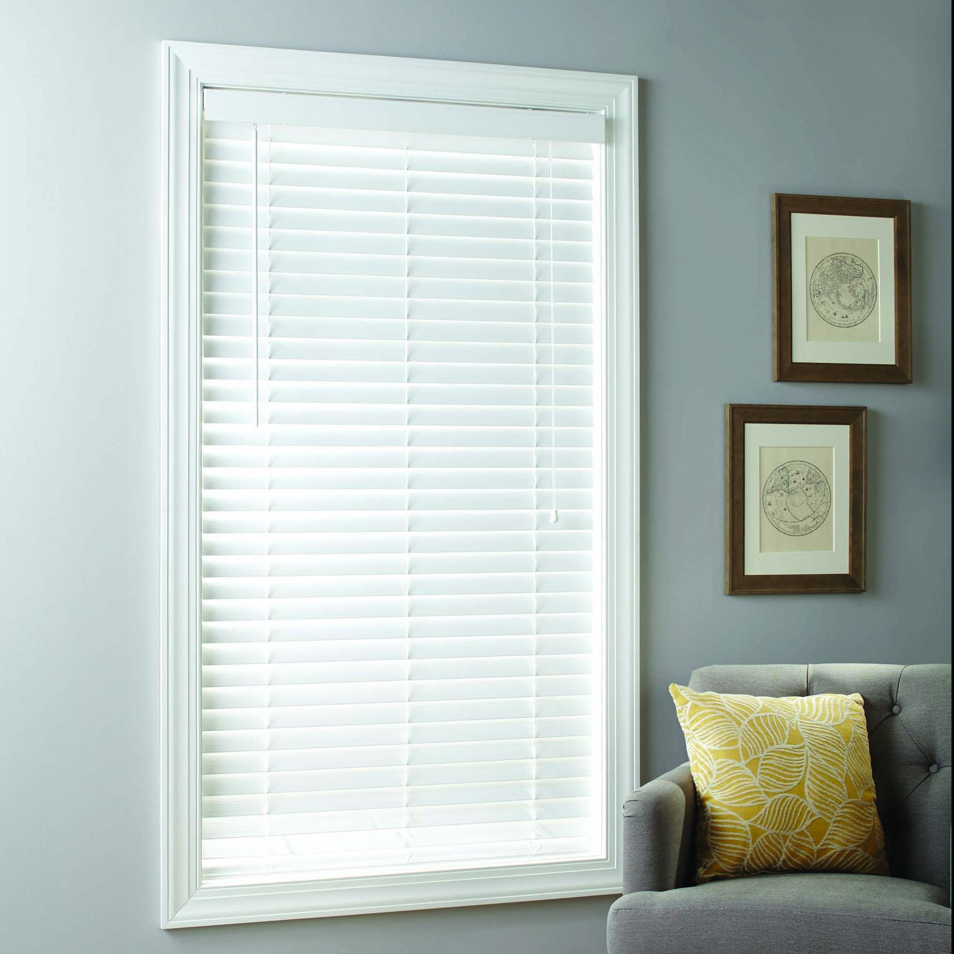 Better Homes Gardens 2 Inch Cordless Faux Wood Blinds White Multiple Sizes Walmart Com In 2020 Cordless Blinds Faux Wood Blinds Wood Blinds