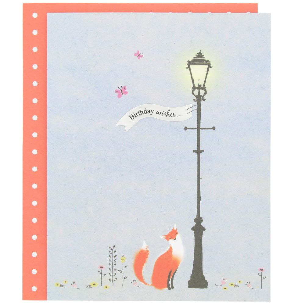 Fox Birthday Card From Paperchase Fox Birthday Cards Stationery Supplies