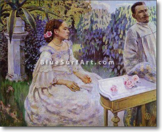 Self-Portrait with Sister - £124.99 : Canvas Art, Oil Painting Reproduction, Art Commission, Pop Art, Canvas Painting