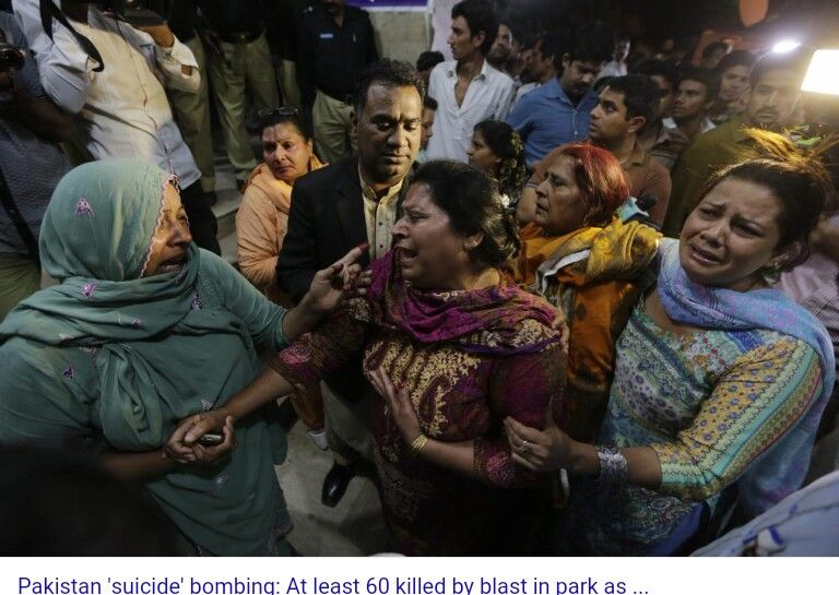 Many Christians in Pakistan died today ,mostly children as they celebrated Easter. Tala ban took responsibility. Truely heartbreaking & evil.