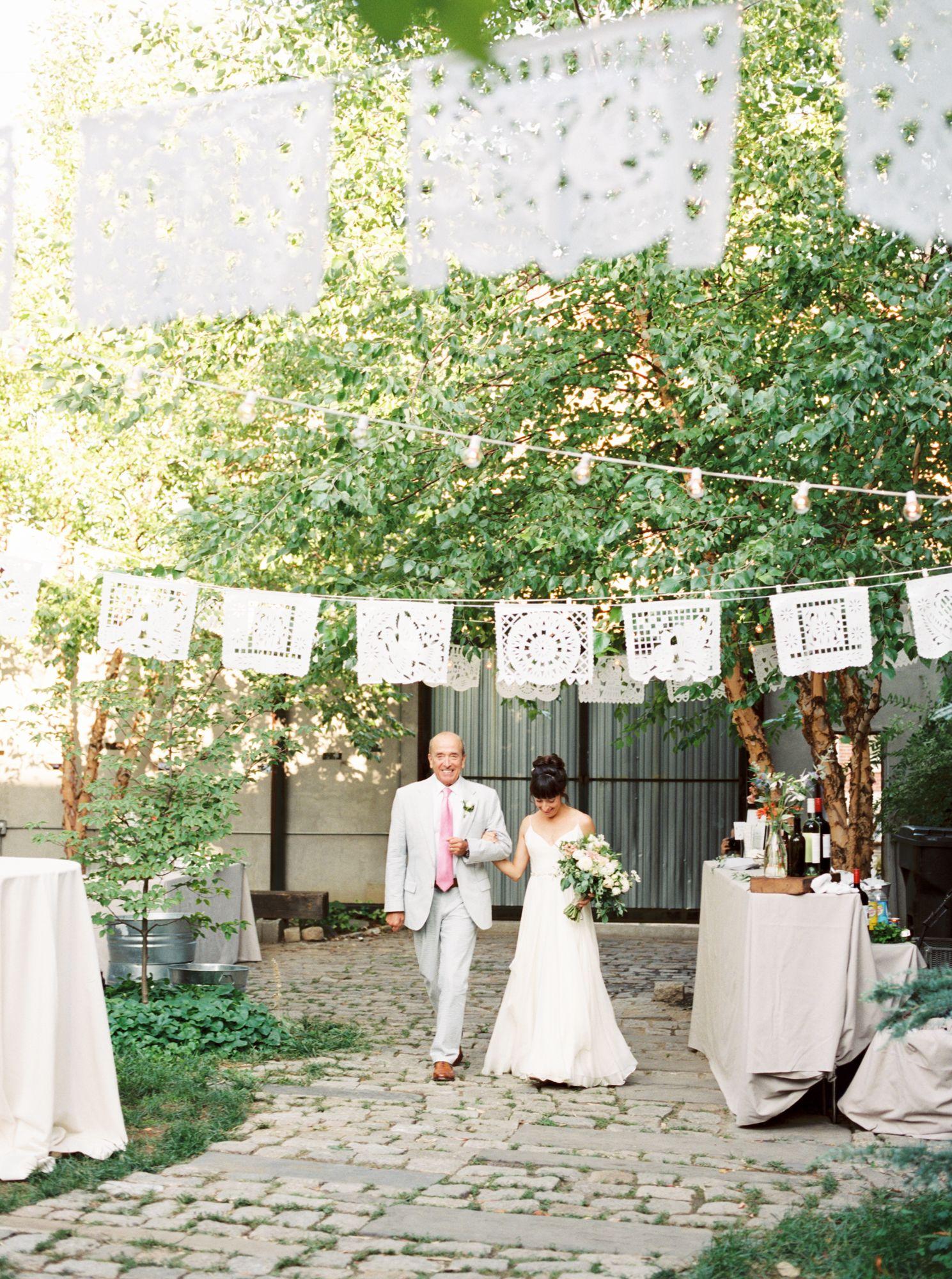 Elegant & Urban Summer Garden Party Maas Building Wedding by Haley Richter Photography