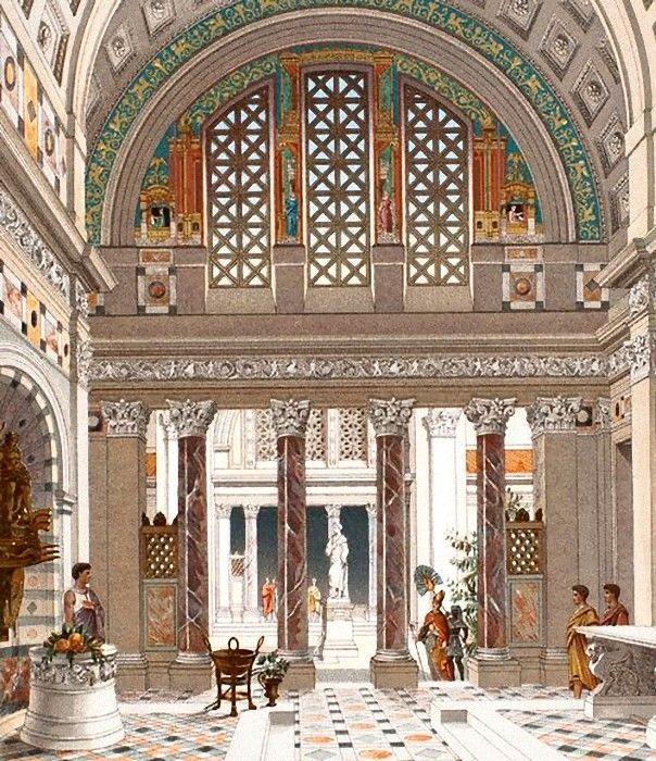 Casa romana architecture antique illustration fran aise for Interior designer roma
