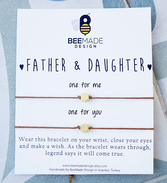 Father And Daughter Wish Bracelets For 2 Fathers Day From Gift Dad Matching Idea